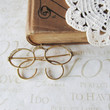 a SIGHT for sore eyes vintage spectacle glasses brooch by brideblu