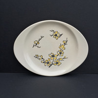Stetson Marcrest Yellow Dixie Dogwood Cake Plate Vintage Mid-Century