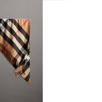 The Burberry Bandana in Check Cashmere in Camel | Burberry United States