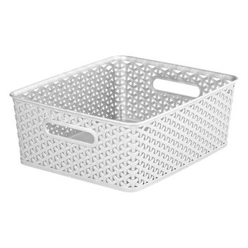 Y Weave Medium Storage Bin White - Room Essentials™