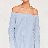 Silence + Noise Cuff-Sleeve Off-The-Shoulder Top - Urban Outfitters
