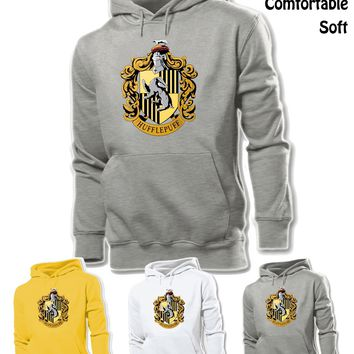 Harry Potter School Hufflepuff Badger Design Unisex Sweatshirt Hoodie Tops