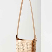 Ecote Leather Basket Weave Shoulder Bag- Blond One