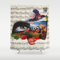 am watching you Shower Curtain by C Kiki Colle