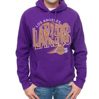 Los Angeles Lakers Team Basketball Pullover Hoodie - Purple