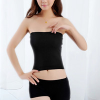 Women Girl Sexy Short Strapless Solid Color Bandeau Stretch Boob Tube Top Store 50