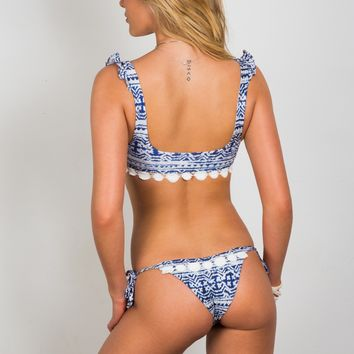 Soah Swimwear Hope Tie Sides Bottom - Blue Tribal