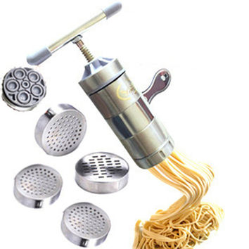Li Mai stainless steel pressing machine manually squeezing face home-made pasta machine noodle five die free shipping