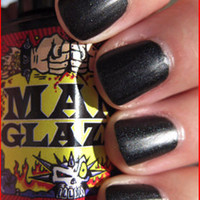 "* Man Glaze ""Death Tar"" (Black) Nail Polish Live Fast carries an array of brands such as Ed Hardy, Stiletto Custom Leather Wear, Vivienne Westwood, Keanan Duffy and Sub-Mission along with many other independent designers"