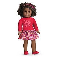 American Girl® Clothing: Flower Sweater & Skirt for Dolls + Charm