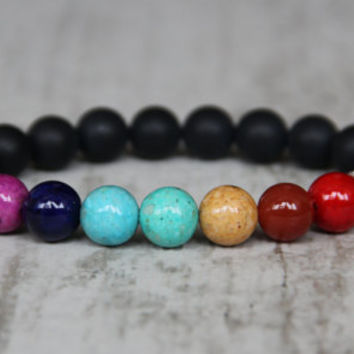 7 chakra bracelet colorful bracelet lgbt jewelry brother gift inspiration men gift yoga bracelet mala healing bracelet meditation bracelet