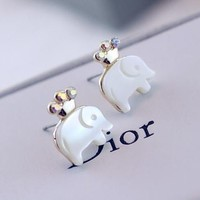 Cutie Crowned Elephant Earrings - LilyFair Jewelry