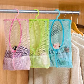 CREYON5U Multi-function Space Saving Hanging Mesh Bags Clothes Organizer for Bedroom New cosmetic Bag