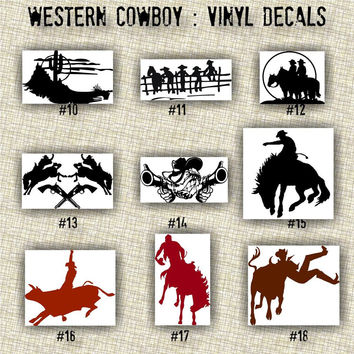 COWBOY vinyl decals | country western | country boy | car decals | car stickers | laptop sticker - 10-18