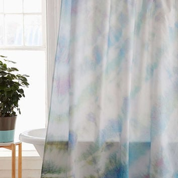 Soft Dyed Shower Curtain - Urban Outfitters