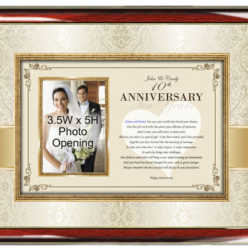 Anniversary Poetry Picture Photo Frame