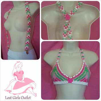 FREE SHIPPING: Rave Kandi Bra and Suspenders