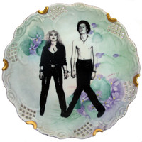 Sid and Nancy Portrait Plate - Altered Vintage Plate 10""