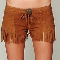 One Teaspoon   Morrison Fringe Short at Free People Clothing Boutique