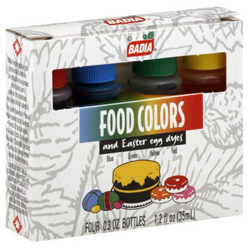 Badia Food Colors and Easter Egg Dye  -12x1.2 FZ-