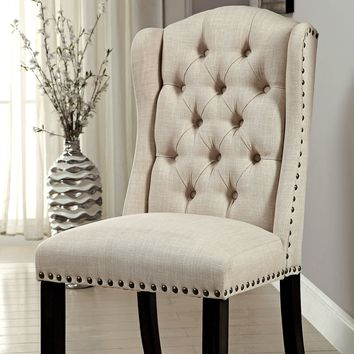 Paulito Rustic Wingback Side Chair