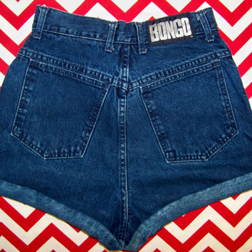 1990's Vintage High Waisted BONGO Denim Shorts