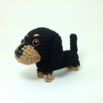 Dachshund Stuffed Animal Crochet Dog Amigurumi Puppy by Inugurumi