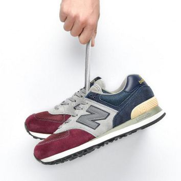 New balance abric is breathable n leisure sports Couples forrest gump running Black