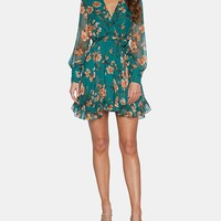 Bardot Ruffled Floral-Print Wrap Dress & Reviews - Dresses - Women - Macy's