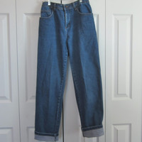Vintage Stretch Denim, High Waisted ,Womens Size 6, Hipster Mom Jeans, Waist ,Bill Blass High Waist Denim Jeans