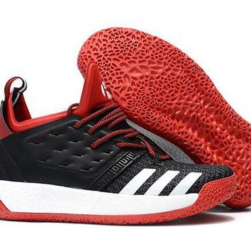 ADIDAS HARDEN VOL. 2 BLACK/WHITE/RED BASKETBALL SHOE