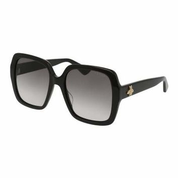 Gucci Square Bee & Logo Acetate Sunglasses