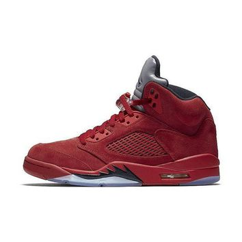 DCCK Air Jordan Retro 5 V 'Red Suede' All sizes