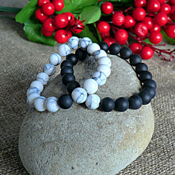 Couple Bracelets his and her Set Bracelets Yoga Bracelet Men and Women Bracelet Friendship Bracelets Stone Bracelet for men for women