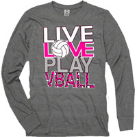 Casual Wear | Live, Love, Play Long Sleeve T-Shirt