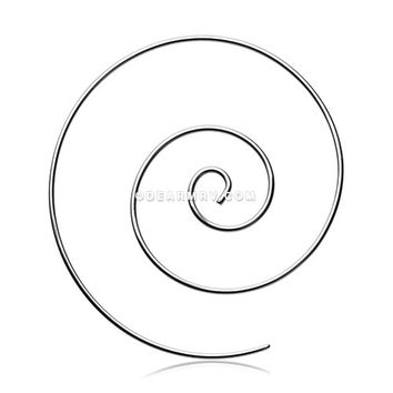 A Pair of Multi Spiral Large Steel Earring