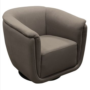 Logan Swivel Accent Chair in Grey Fabric