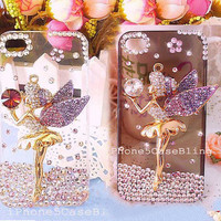iPhone 4 Case, iPhone 4s Case, iPhone 5 Case, cute iphone 4 case fairy, Bling iPhone 4 case, bling iPhone 5 case, iPhone 5 bling case