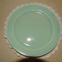 Vintage Lu-Ray Pastels Green  Sandwich Plate from the 1940's, Pastel Green, T.S.&T. Lunch Plate, USA 124-p