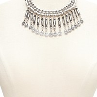 Curved Bar Statement Necklace