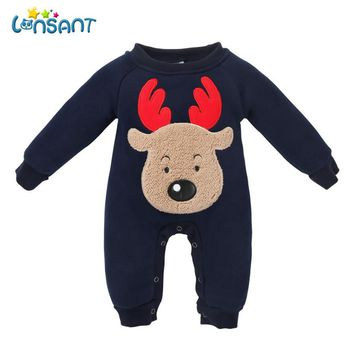 LONSANT Romper Baby Clothes Long Sleeve Cartoon Winter Jumpsuit Newborn Clothing Funny Boys Girls Clothes Dropshipping De6