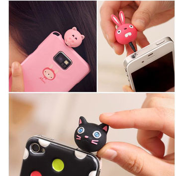 Animal Cat Headset Anti Dust Plug