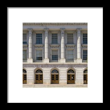 University Of California Berkeley Historic Ide Wheeler Hall Dsc4063 Square Framed Print