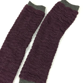 PLUM LEGWARMERS BY THE MAGPIE CO