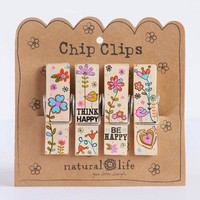 Think Happy Crazy Love Chip Clip Set by Natural Life