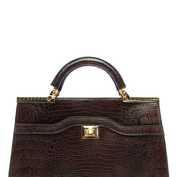 CROC SATCHEL BAG