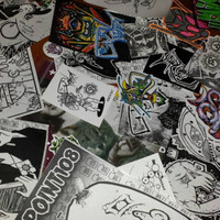 Sticker pack of 25******Mix of Handmade, Digitals, 228's, Prints, Collabos, and other rarities.