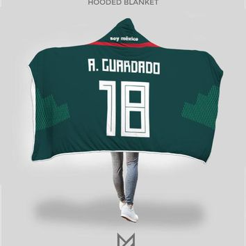 Andrés Guardado Mexico Home Jersey 2018 Hooded Blanket - FIFA World Cup