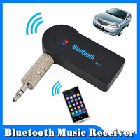 Hand Car Bluetooth Music Receiver Universal 3.5mm Streaming A2DP Wireless Auto AUX Audio Adapter With Mic For Phone MP3