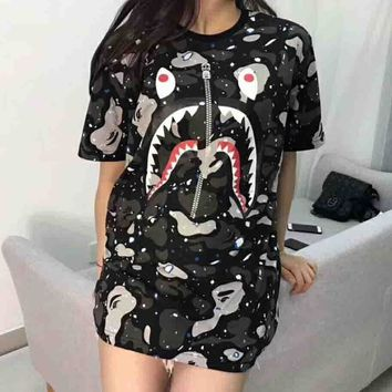 Bape Trending Fashion Casual Camouflage Print Logo Short Sleeve T-shirt G-ALG-CPFS-4